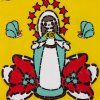 Madonna with flowers sulfur light red stars